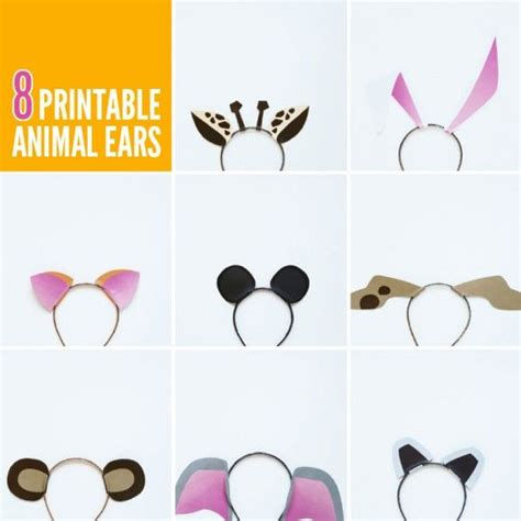 Printable Animal Ears | eight free printable animal ears templates via