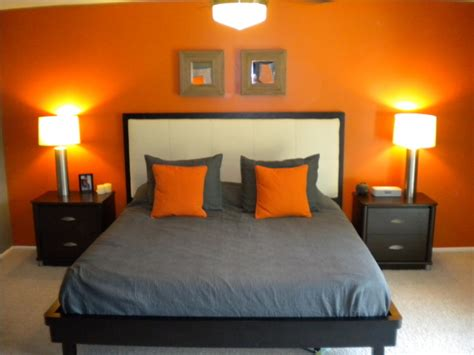 Orange And Grey Room Decor by My Orange And Grey Bed Room On Orange Bedrooms