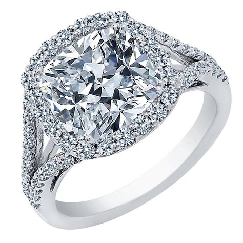 cushion cut engagement rings with no halo 1 00 carat center cushion cut halo engagement ring