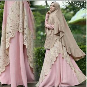 Gamis Pakaian Syari Latifa Syari Maroon Murah setelan busana muslim gamis syari polos modern model terbaru