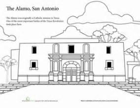 alamo coloring page the alamo coloring page education
