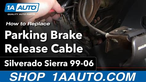 install repair replace parking brake release cable