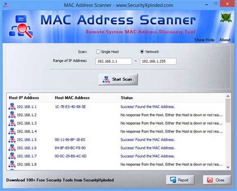 Mac Address Search On Network Mac Address Scanner V1 5 Desktop Tool To Find Mac
