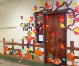 fall pumpkin patch classroom door decoration features
