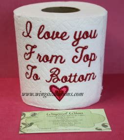 design love fest toilet paper toilet paper saying single tp no 59 machine embroidery
