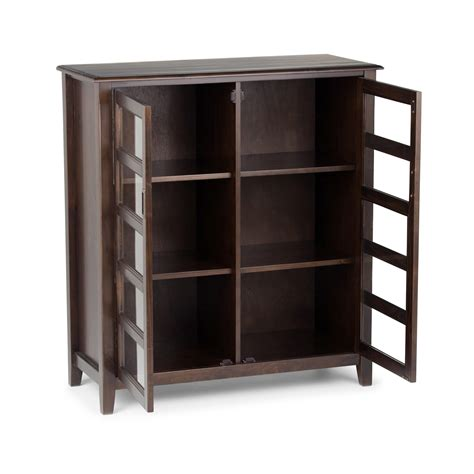 Espresso Storage Cabinet Simpli Home Burlington Medium Storage Cabinet Espresso Brown Kitchen Dining