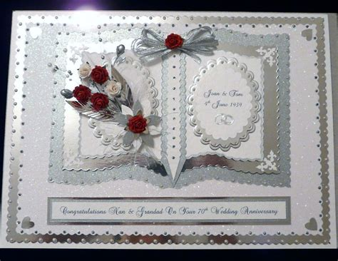 Card Template For 60th Silver Anniversary by Platinum 60th 70th Wedding Anniversary Card