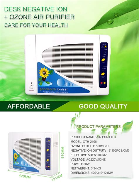 rated hotel room air ionizer portable air purifier