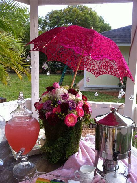 amazing garden tea themed decor for bridal shower