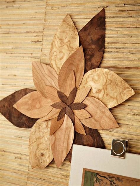 Diy Projects Using Veneer Wood Veneer Flower And This