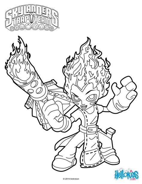 skylanders trap team coloring pages torch coloring