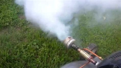 backyard mosquito fogger lawn mower fogger diy with parts explanation