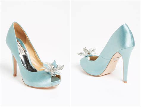 blue wedding shoes badgley mischka blue wedding shoes onewed