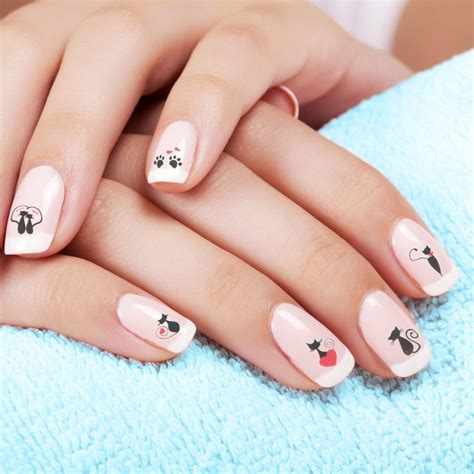 Cat Nail Sticker black cat nail stickers thepurrshop