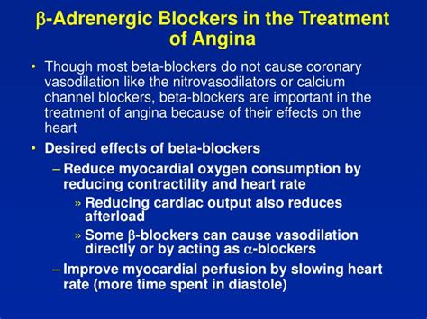 Blockers In Ppt Antianginal Drugs Powerpoint Presentation Id 1196154