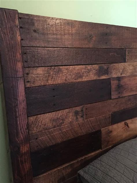 diy headboards for size beds pallet size bed headboard pallet furniture diy