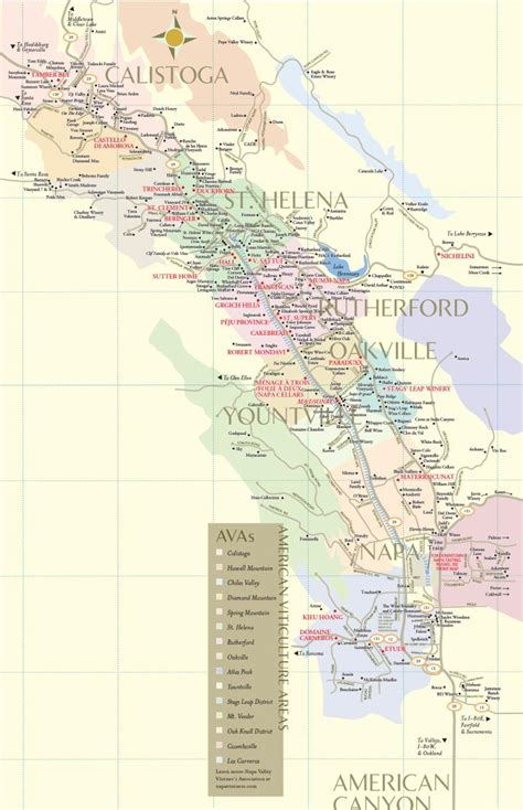 napa valley winery map napa valley winery map plan your visit to our wineries