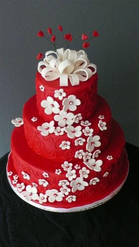 Hochzeitstorte Wei Rot by Coole Torten Dekoration F 252 R Jeden Anlass Archzine Net