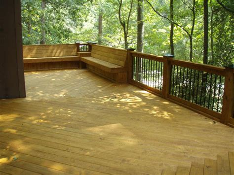 deck bench seat cary deck with bench seats from curtis construction group