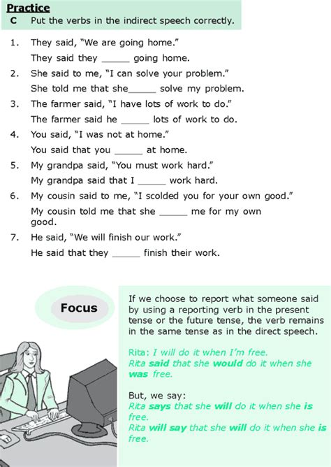 Who Reported Me On by Grammar 187 Grade 6 Grammar Lesson 13 Direct And Indirect Speech