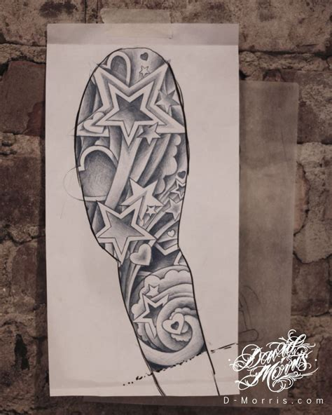 tattoo arm drawings tattoo illustration and design journal star sleeve