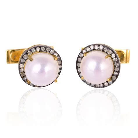 Jewellery Xuping Gift Set 13 13 0ct pearl gold cufflinks sterling silver gift jewelry ebay