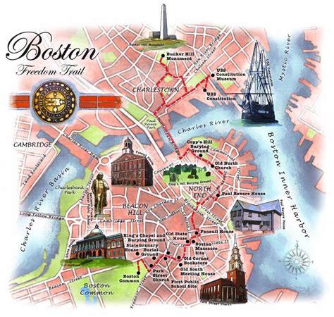 boston united states map boston freedom trail map freedom trail map boston