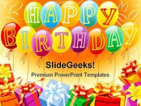 happy birthday powerpoint template happy birthday and gifts entertainment powerpoint