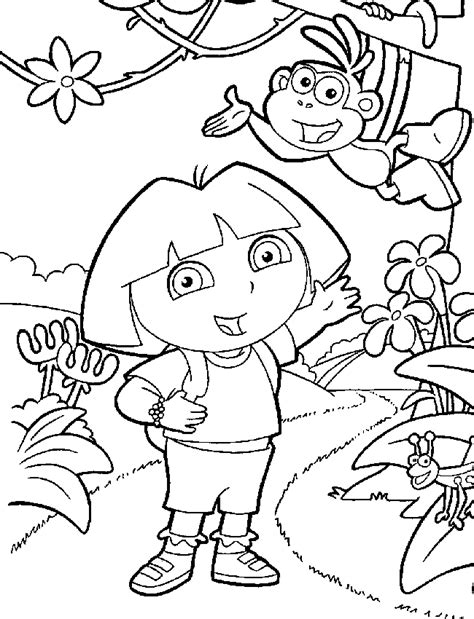coloring pictures of dora the explorer characters dora the explorer color page coloring pages for kids