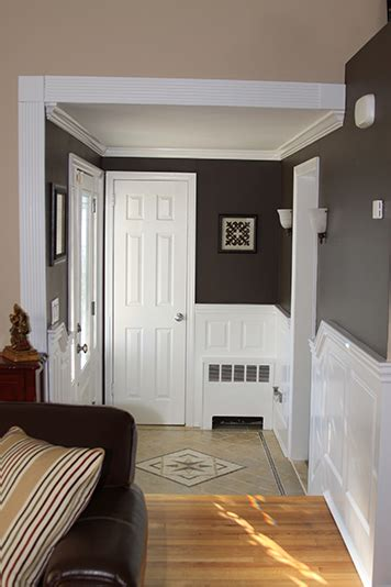 Wainscoting Foyer by Custom Raised Panel Foyer Wainscoting Pictures