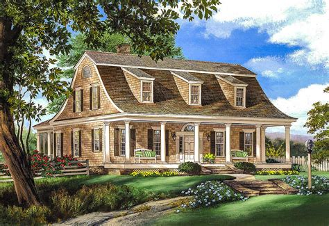 gambrel house plans gambrel house plan with 2 stairs 32629wp architectural