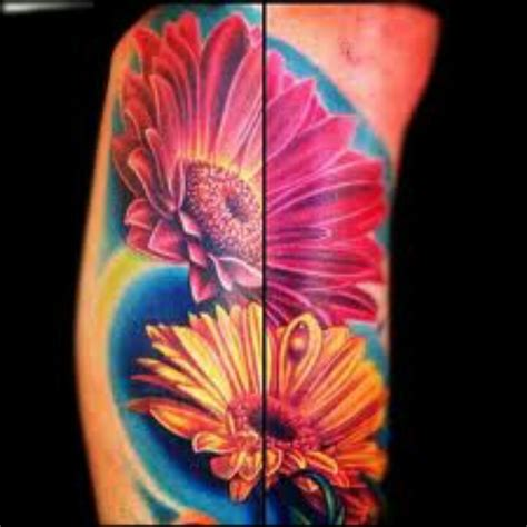 gerber daisy tattoo gerber gorgeous to finish my half sleeve