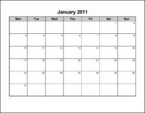 Monday Through Sunday Calendar Template by Monday Through Sunday Printable Calendar Template 2016