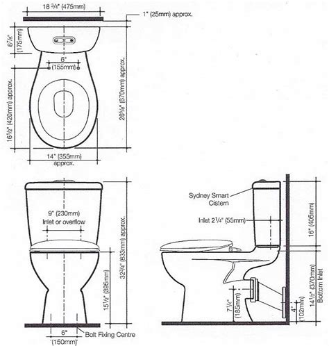 size of toilet interesting ideas dimensions of standard toilet home