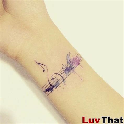 bass clef tattoos 25 amazing watercolor tattoos luvthat