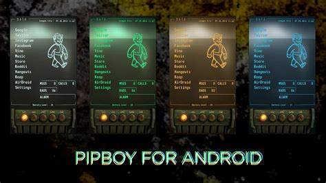 fallout themes for android i give you my improved fallout pipboy android theme xpost from r fallout gaming