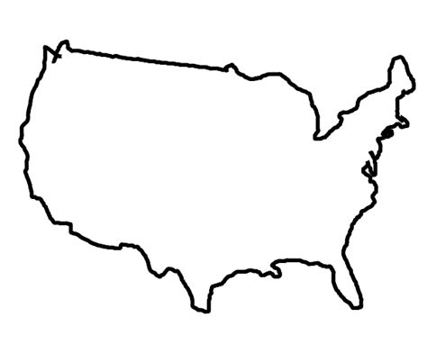 usa map outline clip state outlines clip cliparts co