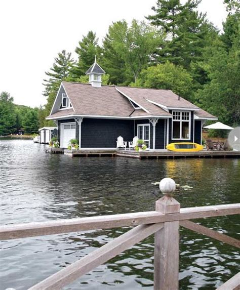 living on a boat in ontario small boathouse with big cottage charm outdoor spaces