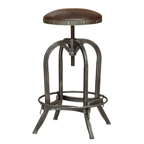 Adjustable Kitchen Stools by Trent Home 26 Quot Rina Leather Adjustable Bar Stool In Brown