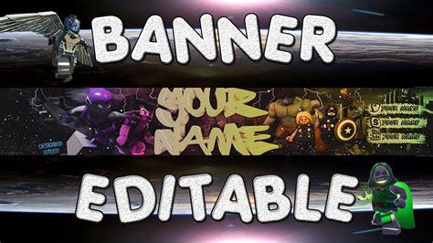 Banner Template Editable Link De Descarga Tutorial Youtube 2k Banner Template