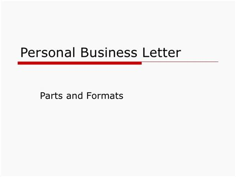 Parts Of Business Letter Slideshare business letter basics