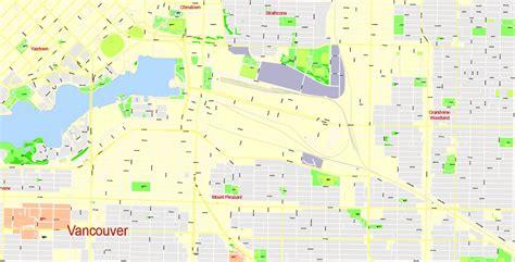 printable map vancouver vancouver printable map canada exact vector map street g