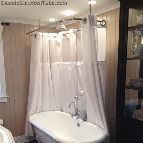 showers for clawfoot bathtub clawfoot tub deckmount shower enclosure combo w gooseneck