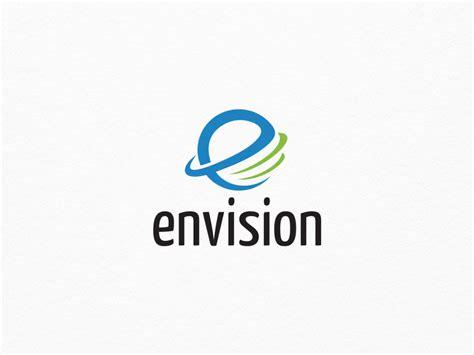 logo e layout envision e letter logo graphic pick