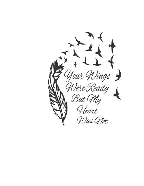 feather tattoo your wings were ready your wings were ready but my heart was not clipart