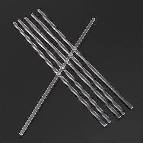 Acrylic 6mm 6pcs 300 215 6mm transparent acrylic rod solid rod