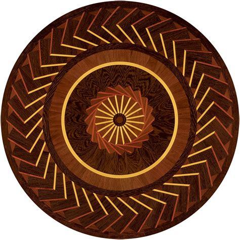 Art Nouveau Wood Medallion   4304   Ipe, Padauk, Wenge