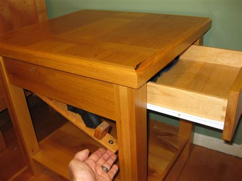 Custom Made Bedside Table With Secret Compartment By Cope
