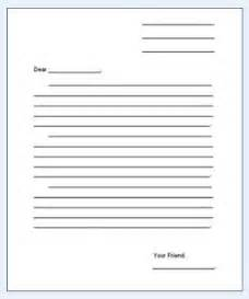 Template For Letter Writing by Free Letter Writing Templates For