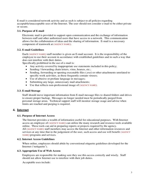 Internet Acceptable Use Policy Free Download Employee Acceptable Use Policy Template